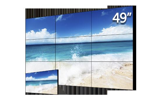 49寸3.5mm拼缝LED标亮液晶拼接单元