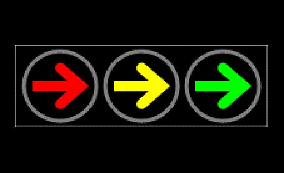 403右转信号灯横装(铸铝壳)