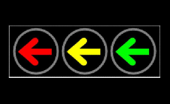 403左转信号灯横装(铸铝壳)