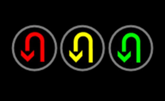 403掉头信号灯横装(铸铝壳)